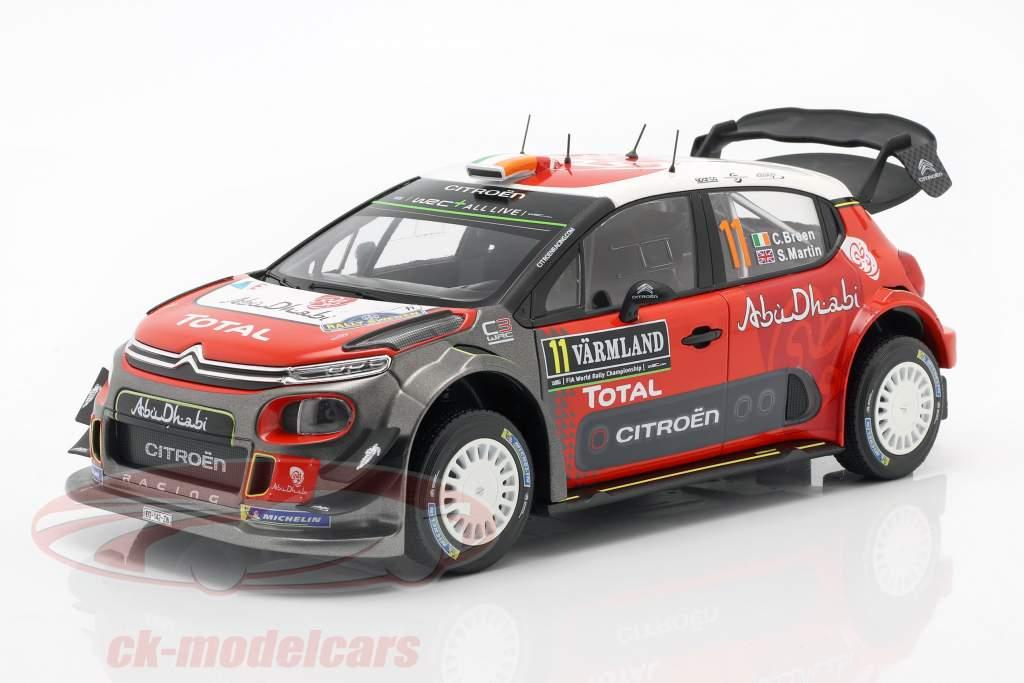 Citroen C3 WRC 2018 #11 2 Rallye Suède 2018 Breen, Martin 1:18 Norev