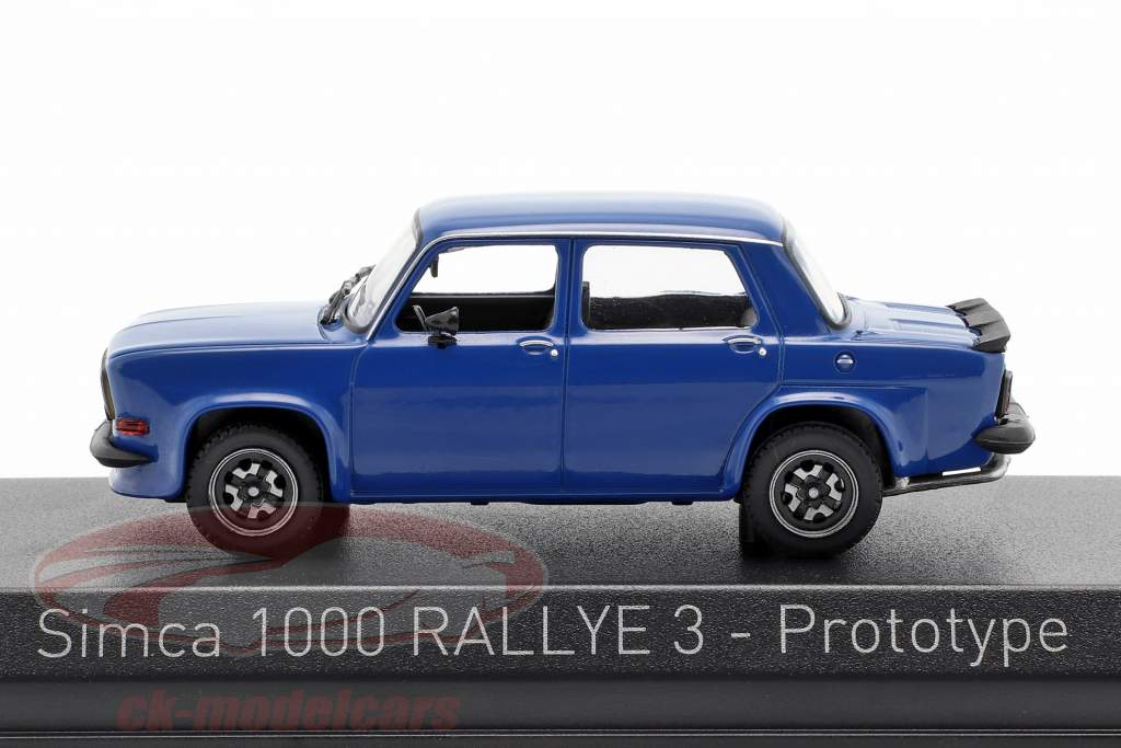 Simca 1000 Rally 3 Prototype year 1978 talbot blue 1:43 Norev