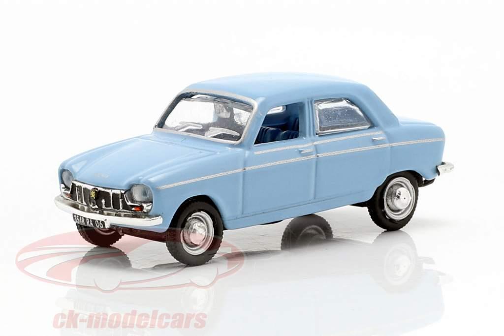 Peugeot 204 anno di costruzione 1966 blu 1:87 Norev