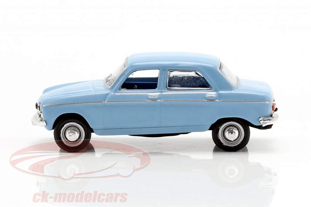 Peugeot 204 Bouwjaar 1966 blauw 1:87 Norev