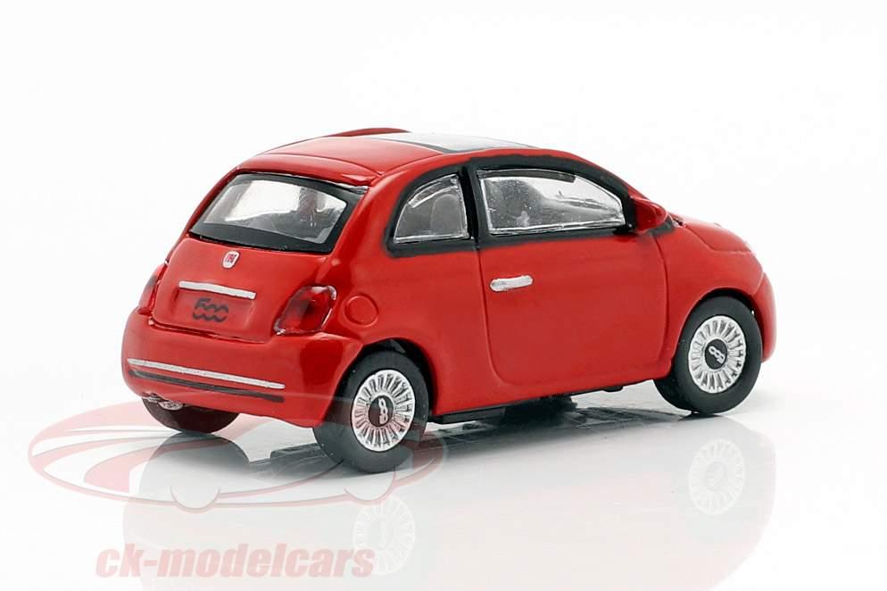 Fiat 500i ano de construção 2007 vermelho 1:87 Norev