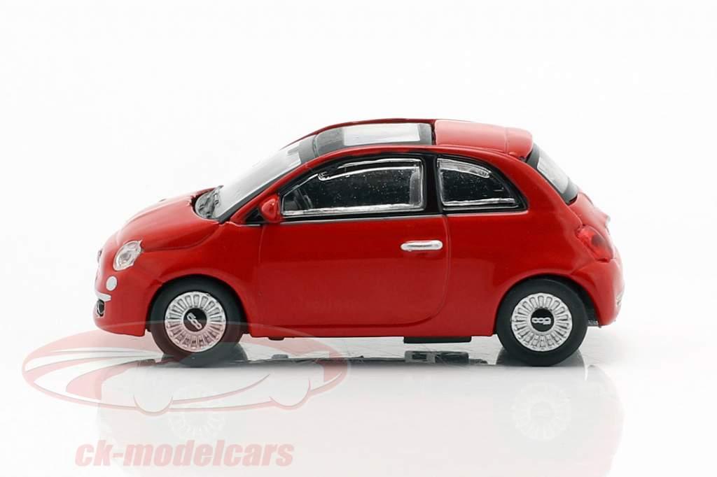 Fiat 500i año de construcción 2007 rojo 1:87 Norev