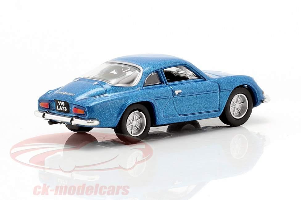 Alpine A110 año de construcción 1973 azul metálico 1:87 Norev