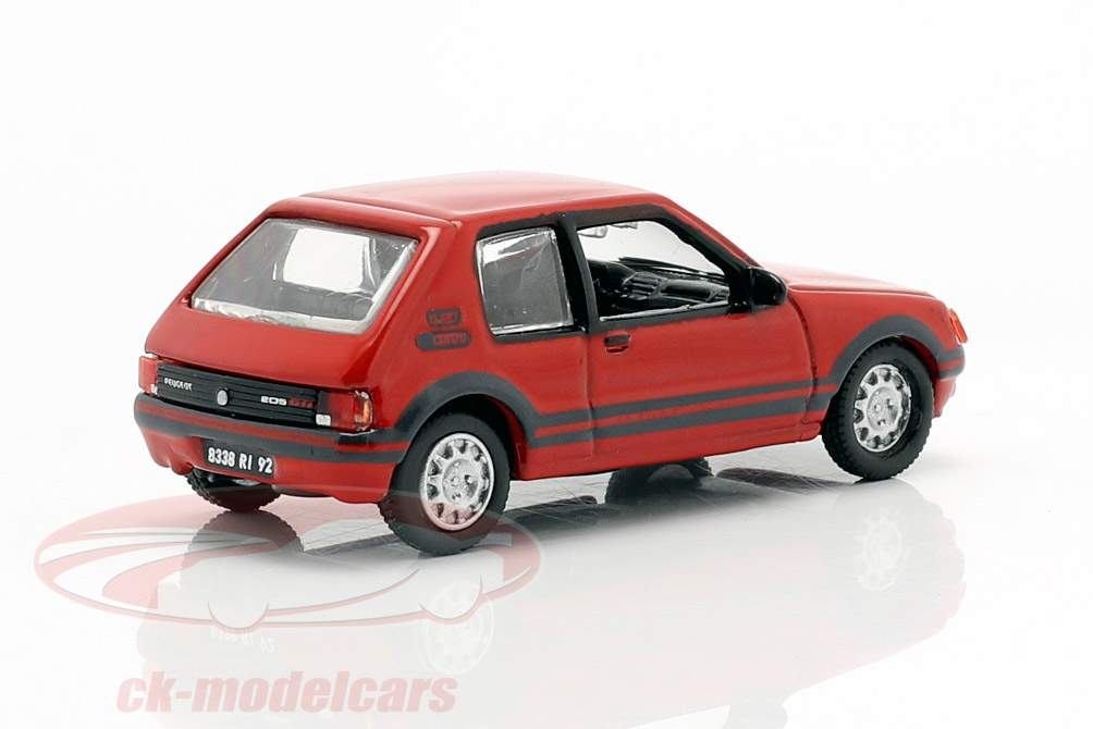 Peugeot 205 GTI 1.9 Baujahr 1987 rot 1:87 Norev