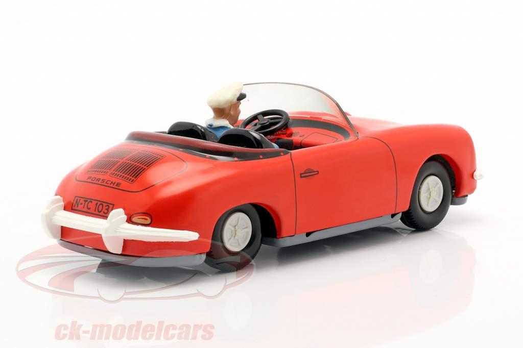 Porsche 356 TuWa Tin bil rød Tippco