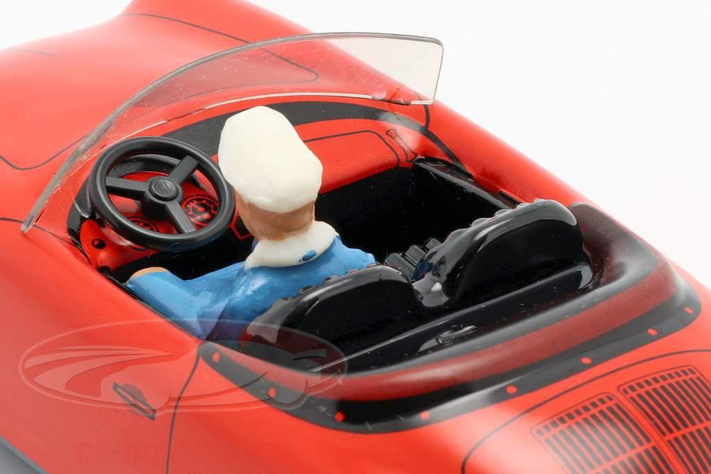 Porsche 356 TuWa coche estaño rojo Tippco
