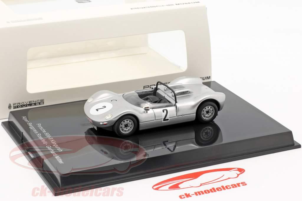 Porsche 906/8 Känguruh #2 vincitore Hill climb Rossfeld 1965 Gerhard Mitter 1:43 Norev