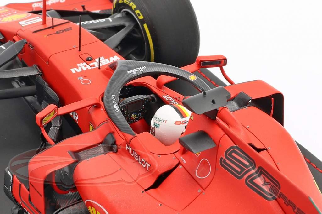 Sebastian Vettel Ferrari SF90 #5 4ª australiano GP F1 2019 com mostruário 1:18 BBR
