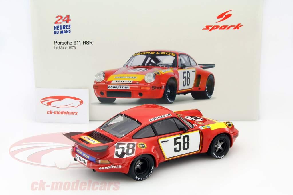 Porsche 911 Carrera RSR #58 24h LeMans 1975 Gelo Racing Team 1:18 Spark / 2. choice