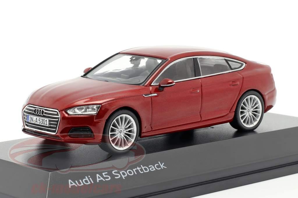 Audi A5 Sportback Opførselsår 2017 matador rød 1:43 Spark