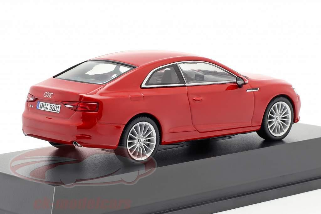 Audi A5 Coupe tango rød 1:43 Spark