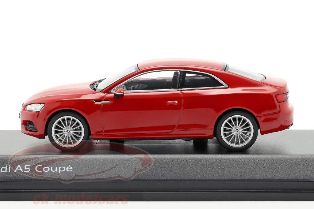 Audi A5 Coupe tango rot 1:43 Spark