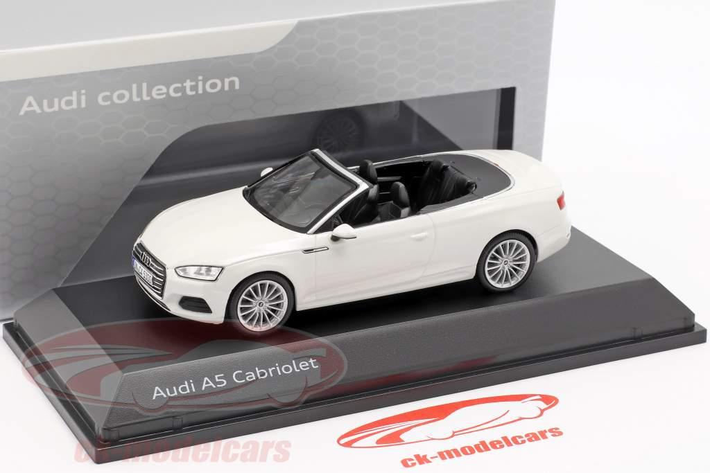 Audi A5 cabriolé ano de construção 2017 tofana branco 1:43 Spark