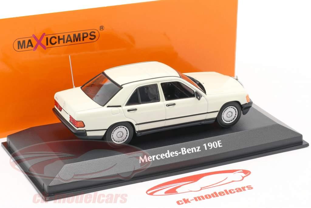 Mercedes-Benz 190E ano de construção 1984 branco 1:43 Minichamps