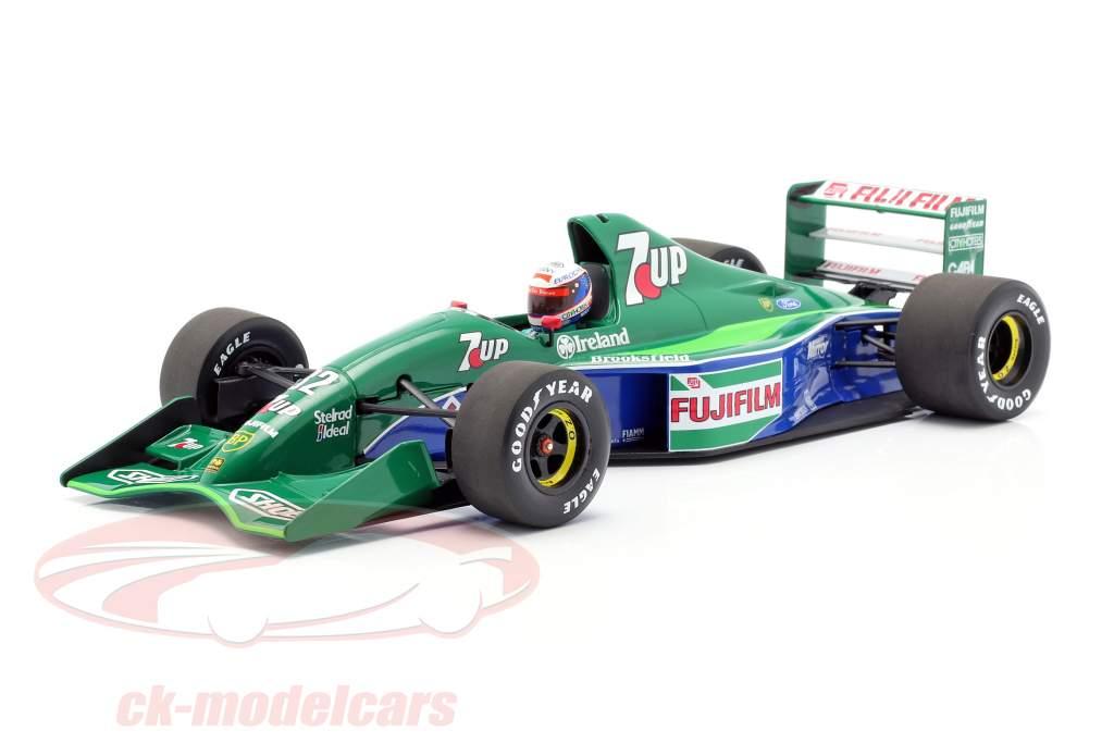 Bertrand Gachot Jordan 191 #32 sexto británico GP F1 1991 1:18 Minichamps