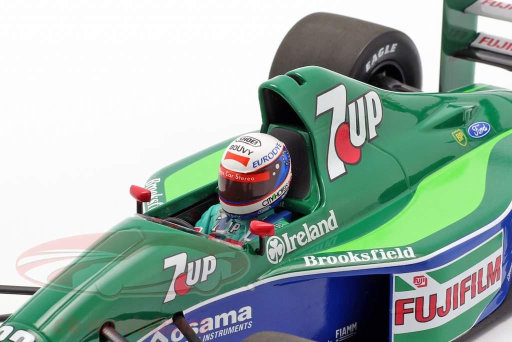 Bertrand Gachot Jordan 191 #32 6th britisk GP F1 1991 1:18 Minichamps