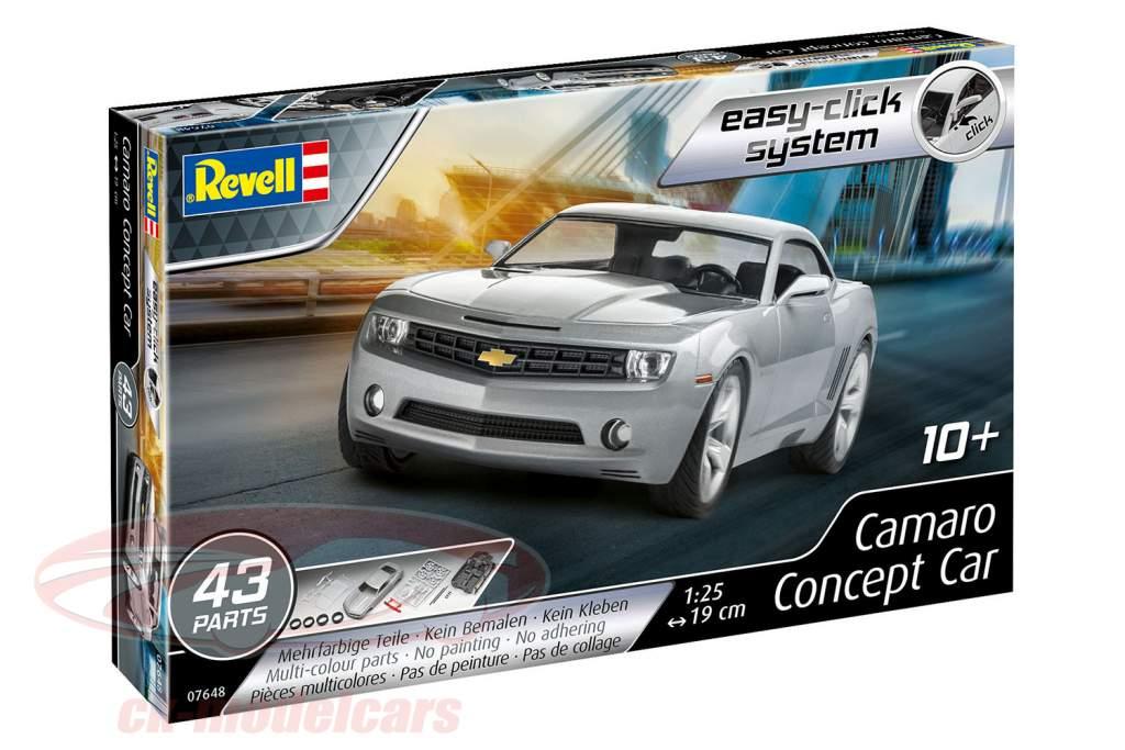 Chevrolet Camaro Concept Car 2006 cinza prata estojo 1:25 Revell
