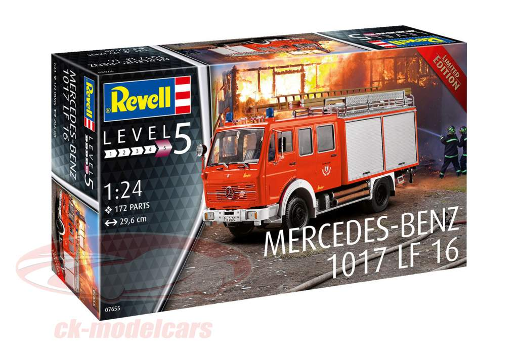 Mercedes-Benz 1017 LF 16 bombeiros estojo 1:24 Revell