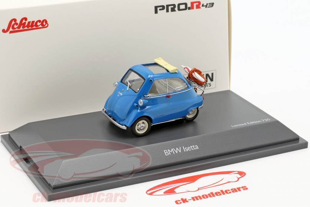 BMW Isetta pique-nique bleu 1:43 Schuco