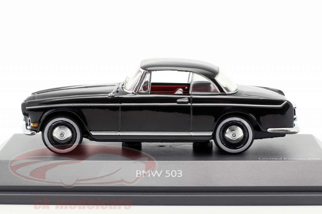 BMW 503 Hardtop Opførselsår 1956-1960 sort 1:43 Schuco