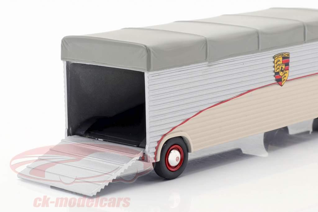 Volkswagen VW T1 racing transport Porsche Porsche bege / prata / cinza 1:43