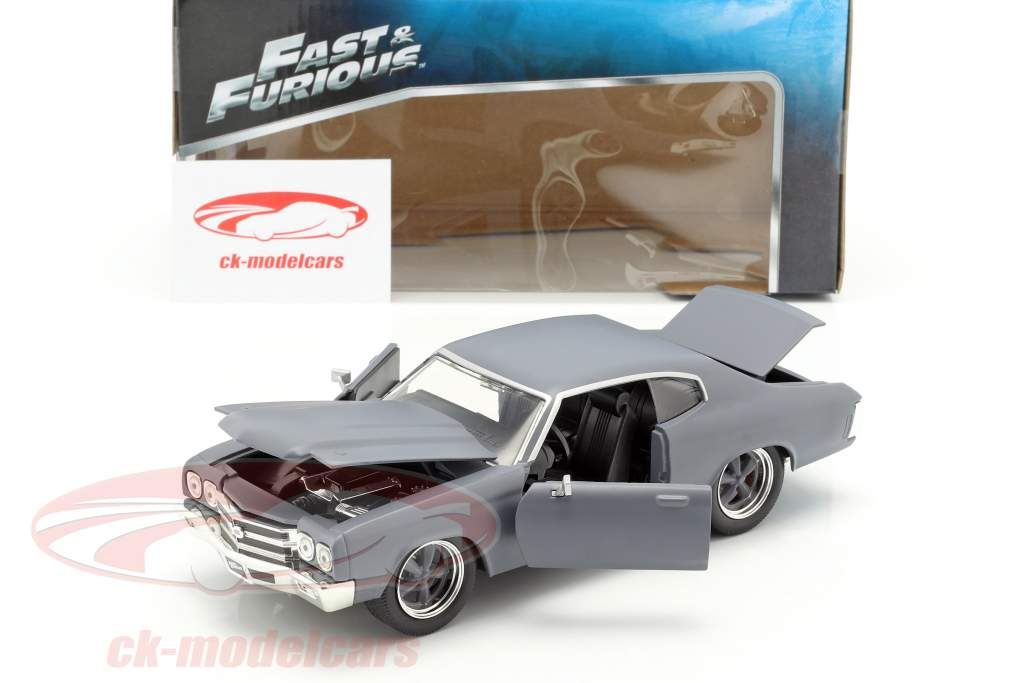 Dom's Chevrolet Chevelle SS Fast and Furious マット グレー 1:24 Jada Toys