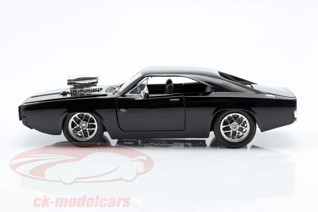 Dodge Charger R/T 年 1970 Fast and Furious 7 2015 黒 1:24 Jada Toys