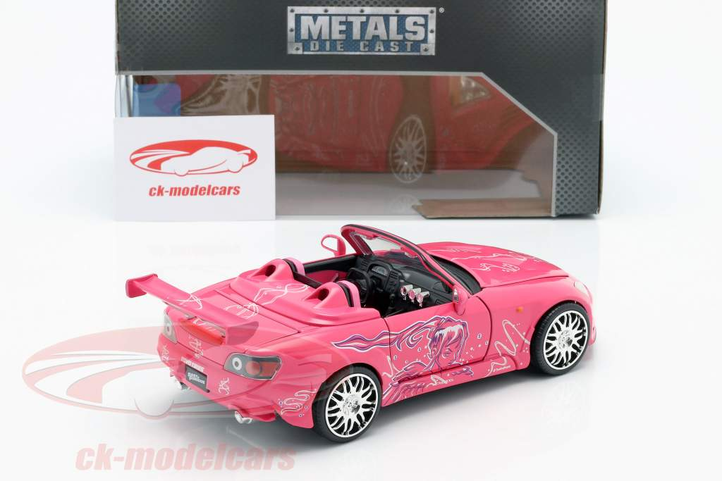 Suki's Honda S2000 2 Fast 2 Furious 2003 rosa 1:24 Jada Toys