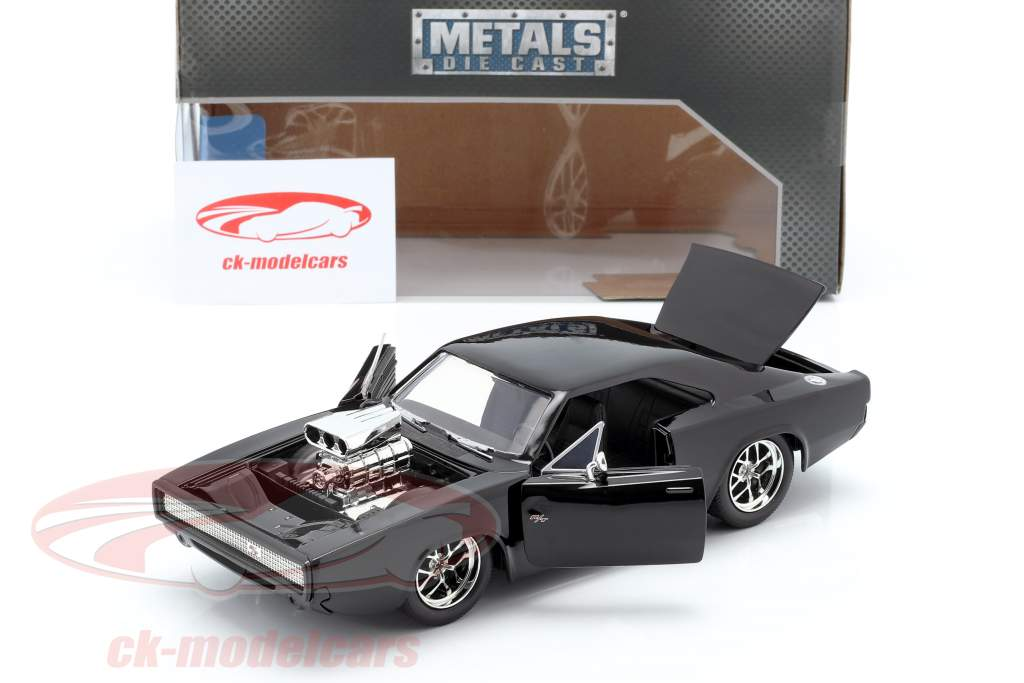 Dodge Charger R/T Year 1970 Fast and Furious 7 2015 black 1:24 Jada Toys