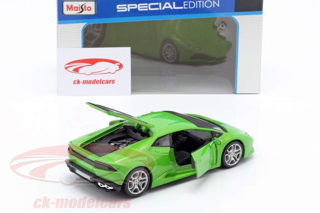 Lamborghini Huracan LP610-4 Jaar 2014 groen 1:24 Maisto