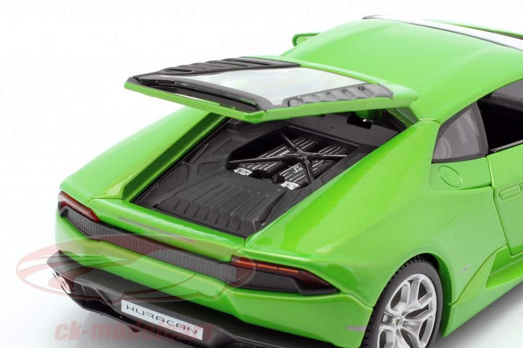 Lamborghini Huracan LP610-4 År 2014 grøn 1:24 Maisto