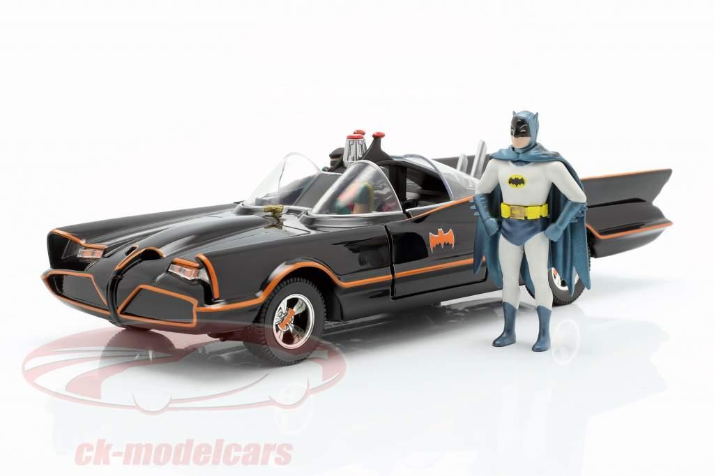 Batmobile met Batman en Robin figuur Classic TV-Serie 1966 1:24 Jada Toys