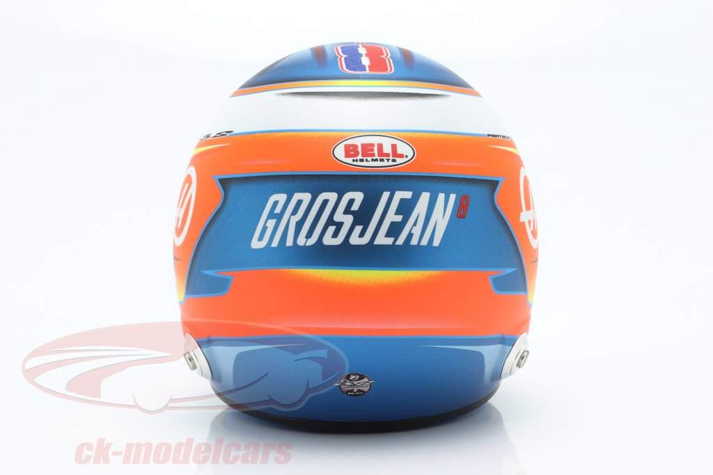 Romain Grosjean Haas VF-19 #8 fórmula 1 2019 casco 1:2 Bell