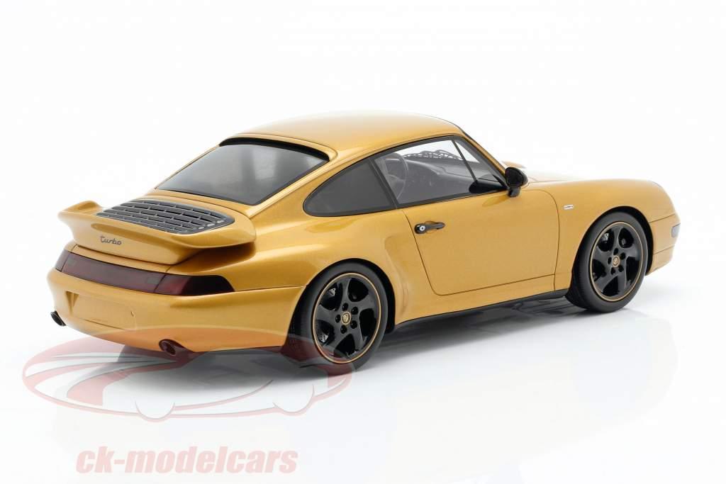 Porsche 911 (993) Turbo Classic Series Project Gold con escaparate 1:18 Spark