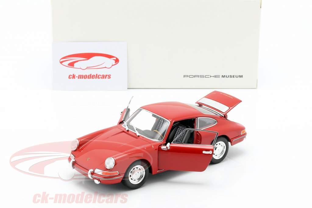 Porsche 911 ano de construção 1964 vermelho 1:24 Welly