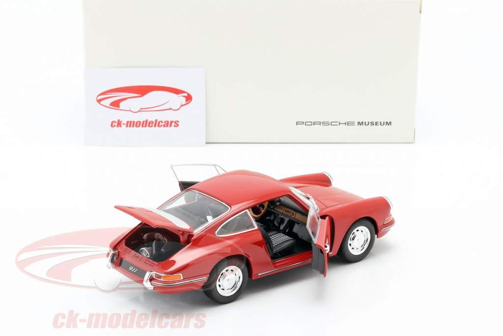 Porsche 911 Opførselsår 1964 rød 1:24 Welly