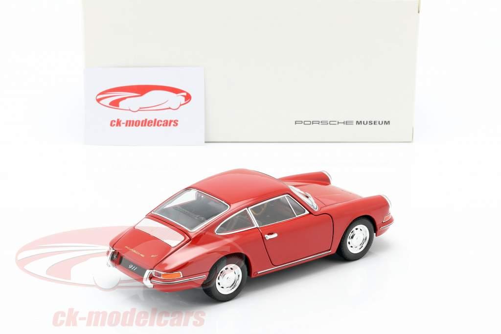 Porsche 911 year 1964 red 1:24 Welly