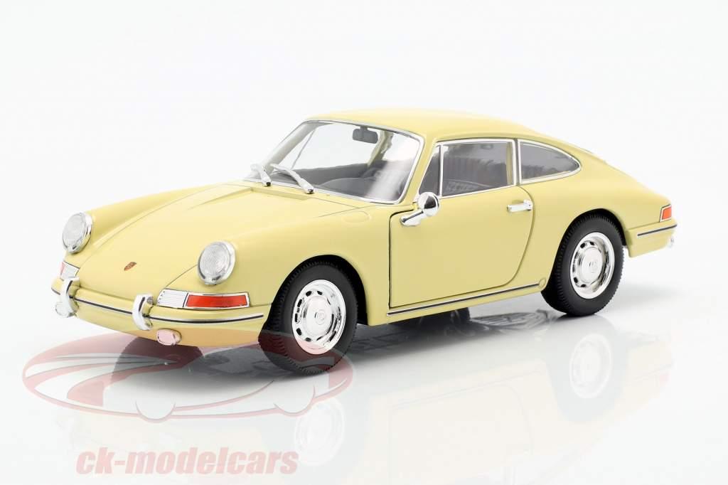 Porsche 911 año de construcción 1964 amarillo 1:24 Welly