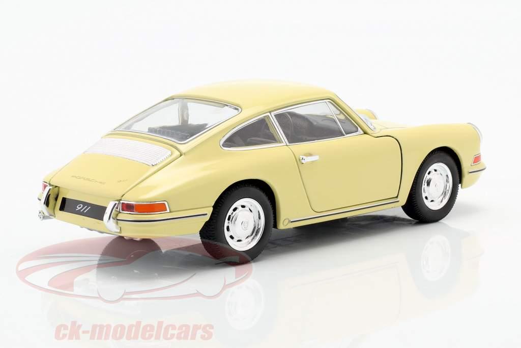 Porsche 911 Bouwjaar 1964 geel 1:24 Welly