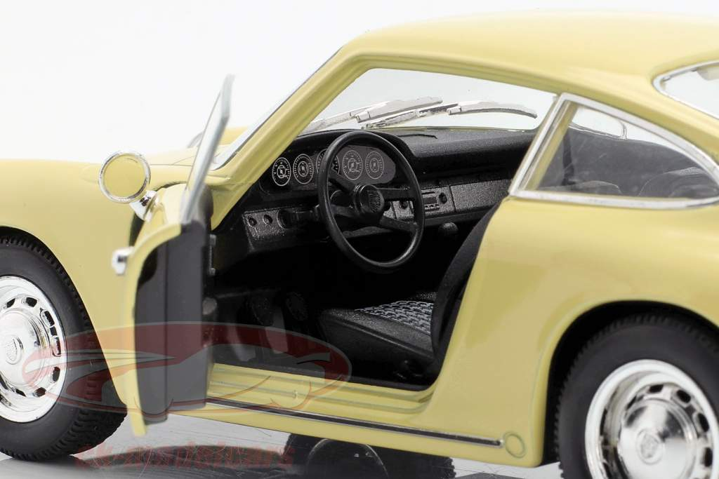 Porsche 911 année de construction 1964 jaune 1:24 Welly