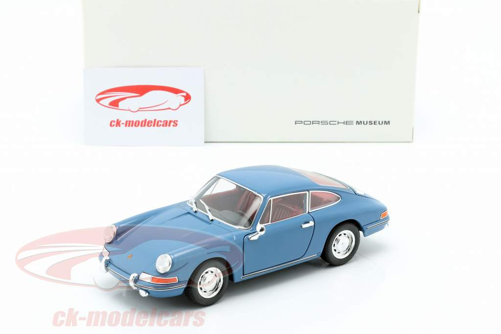 Porsche 911 ano de construção 1964 azul 1:24 Welly