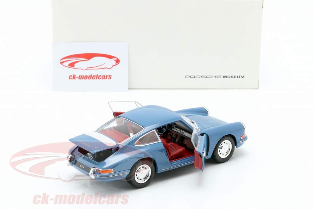 Porsche 911 anno di costruzione 1964 blu 1:24 Welly