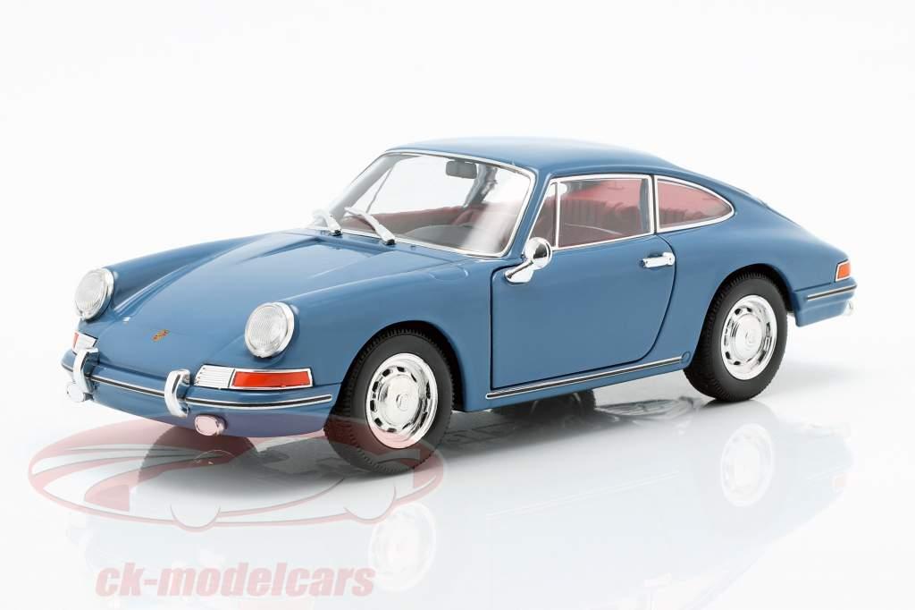 Porsche 911 Bouwjaar 1964 blauw 1:24 Welly