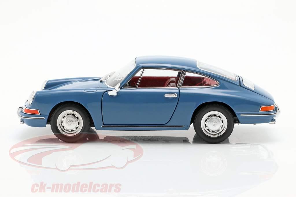 Porsche 911 año de construcción 1964 azul 1:24 Welly