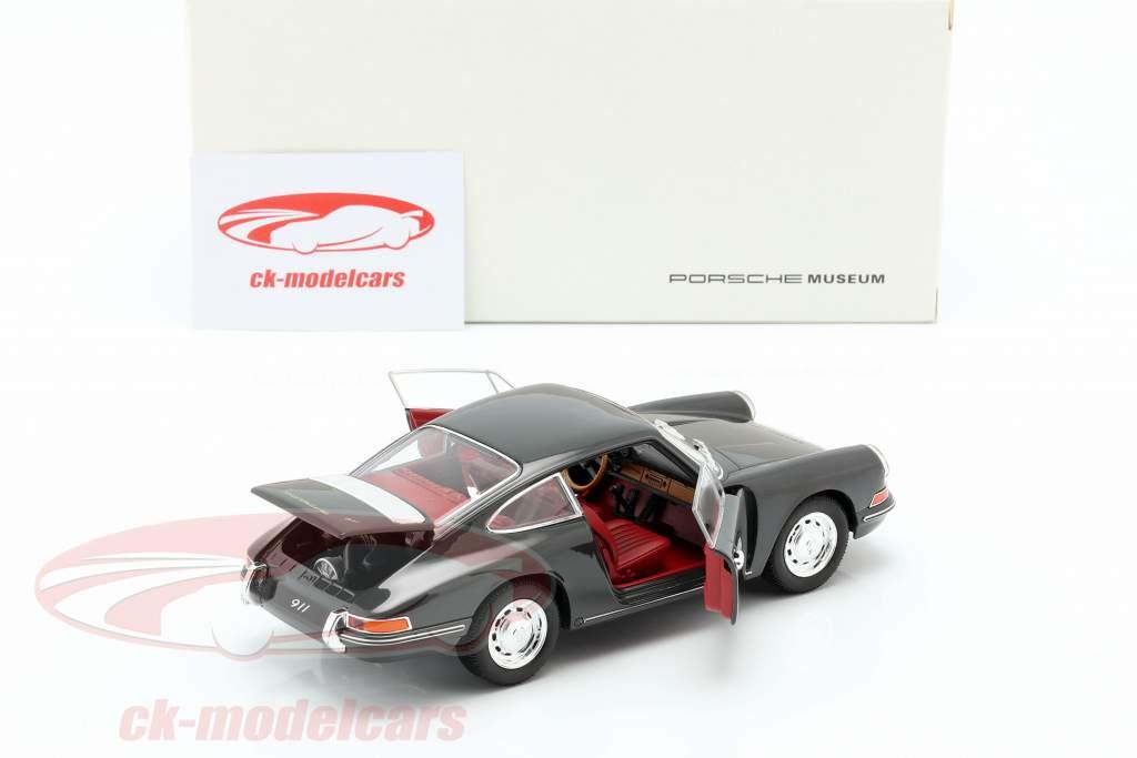 Porsche 911 ano de construção 1964 ardósia cinza 1:24 Welly