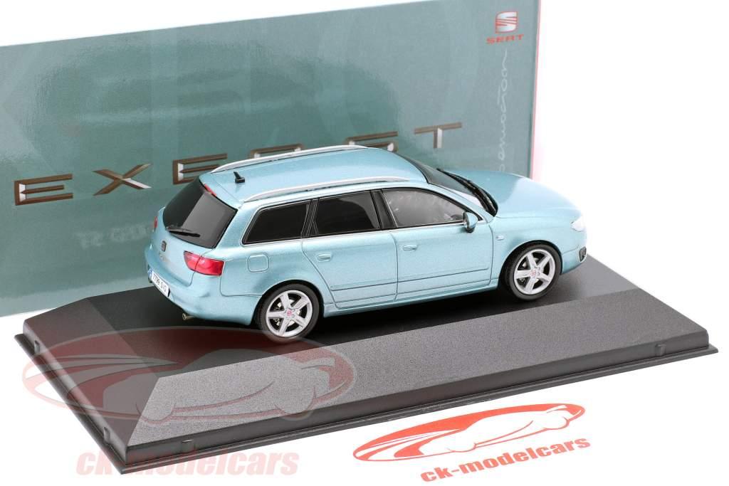 Seat Exeo ST year 2009 nayara blue metallic 1:43 Seat