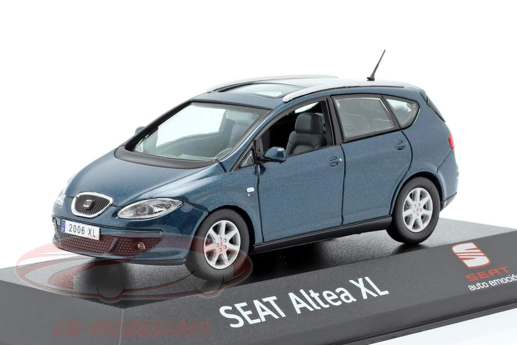 Seat Altea XL azul oscuro metálico 1:43 Seat