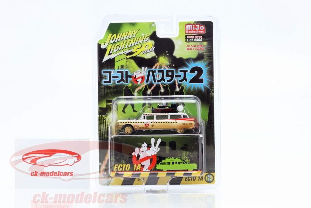 Cadillac Eldorado Ecto 1A 1959 Dirty Version película Ghostbusters II (1989) 1:64 JohnnyLightning
