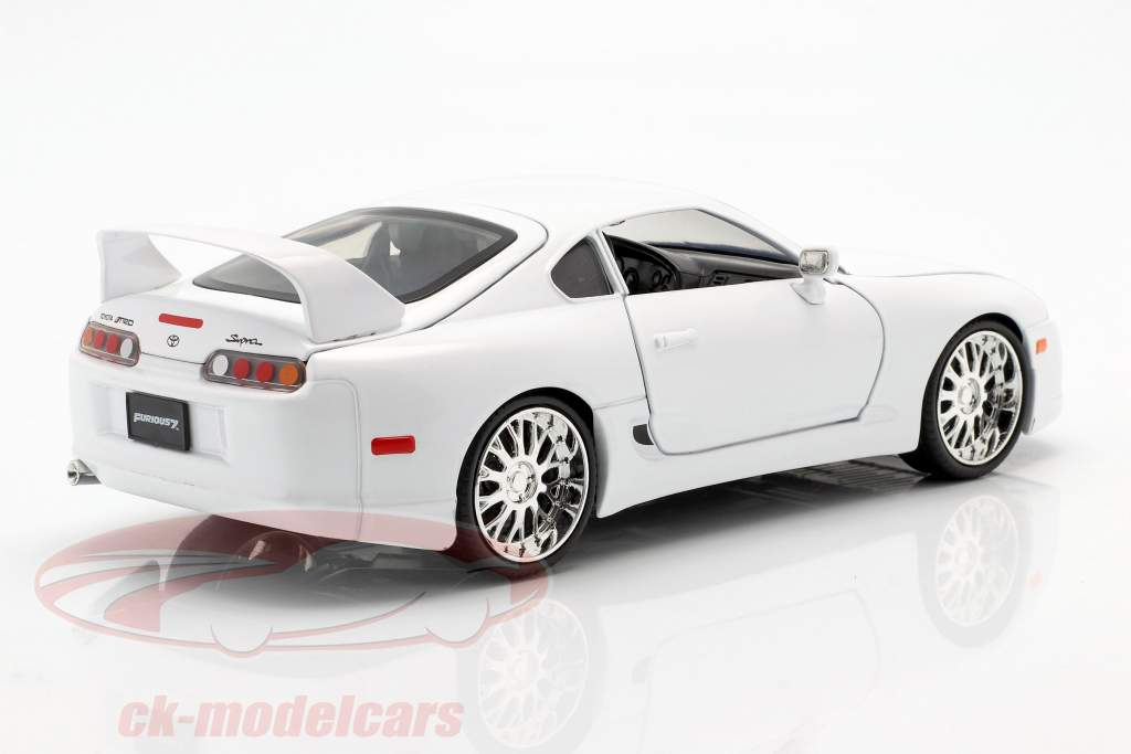 Brian´s Toyota Supra fra den film Fast and Furious 7 2015 hvid 1:24 Jada Toys