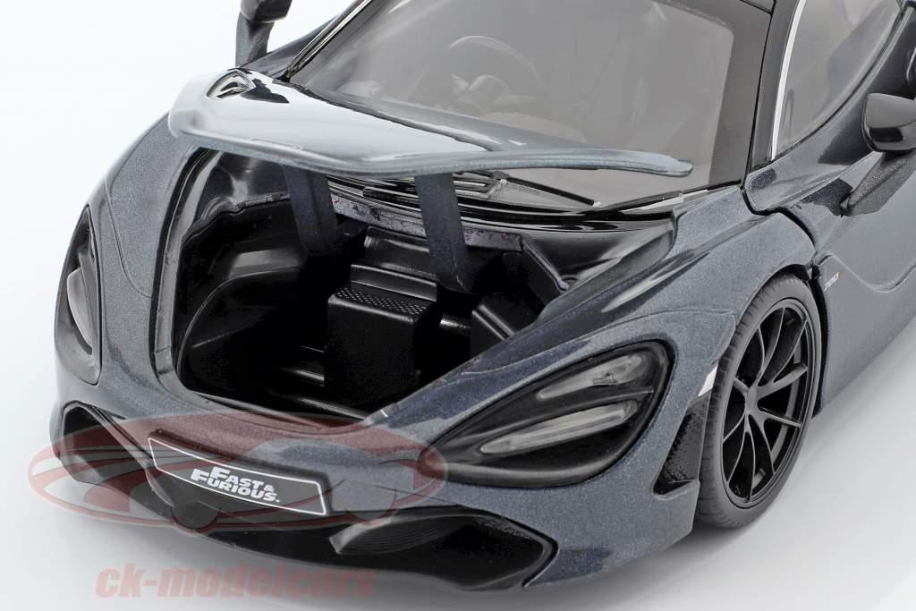 Shaw's McLaren 720S película Fast & Furious Hobbs & Shaw (2019) gris metálico 1:24 Jada Toys